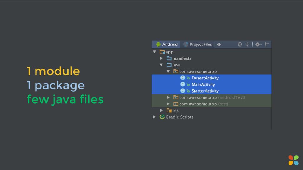1 module 1 package few java files