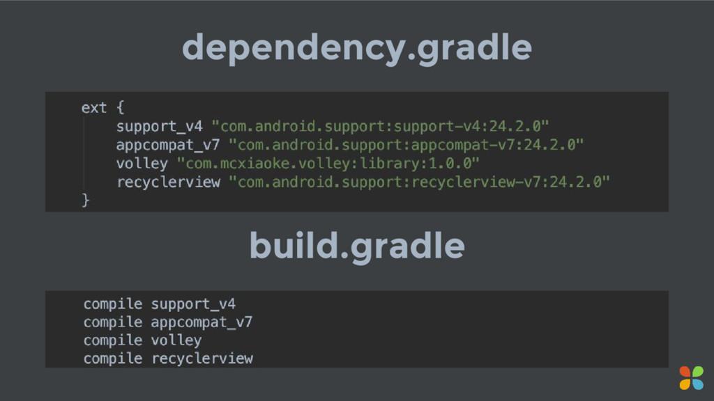 dependency.gradle build.gradle
