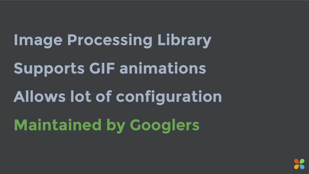 Image Processing Library Supports GIF animation...