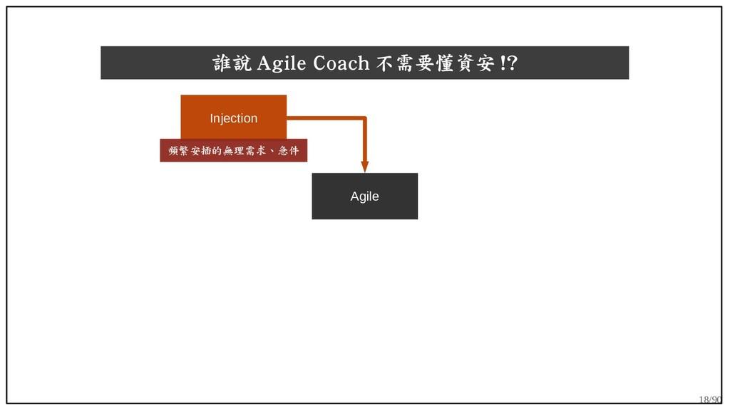 18/90 誰說 Agile Coach 不需要懂資安 !? Agile Injection ...