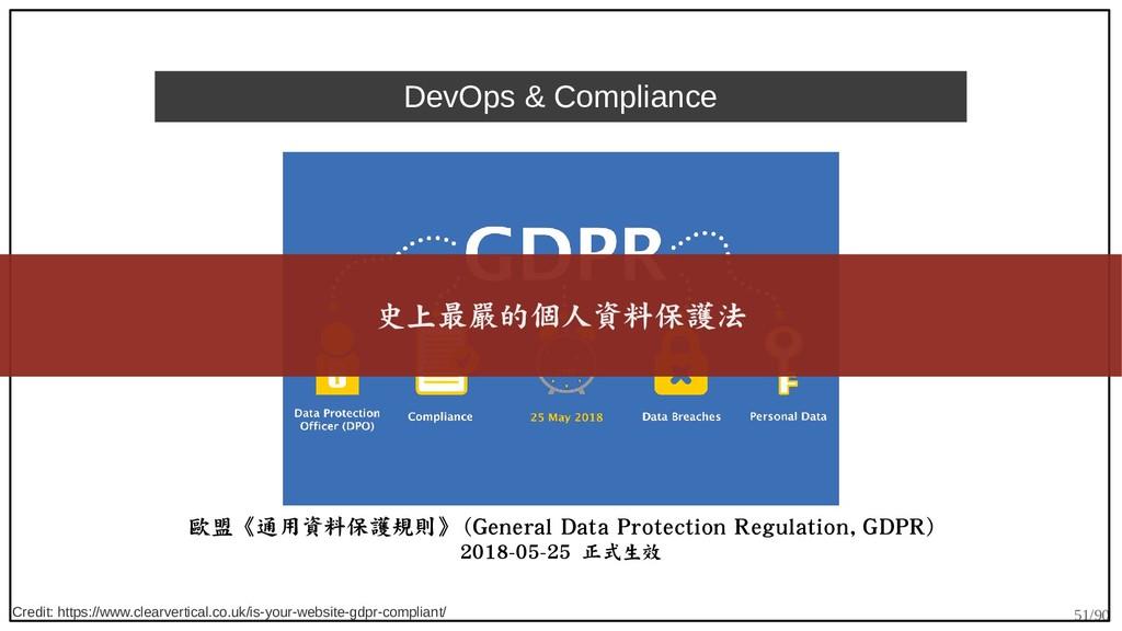 51/90 DevOps & Compliance 歐盟《通用資料保護規則》 (General...