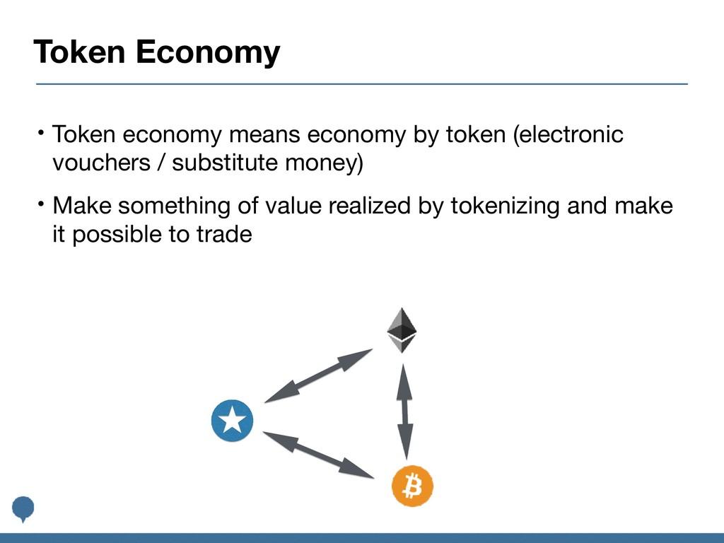 Token Economy • Token economy means economy by ...