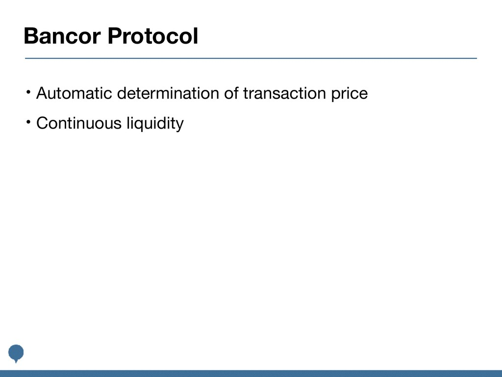 Bancor Protocol • Automatic determination of tr...