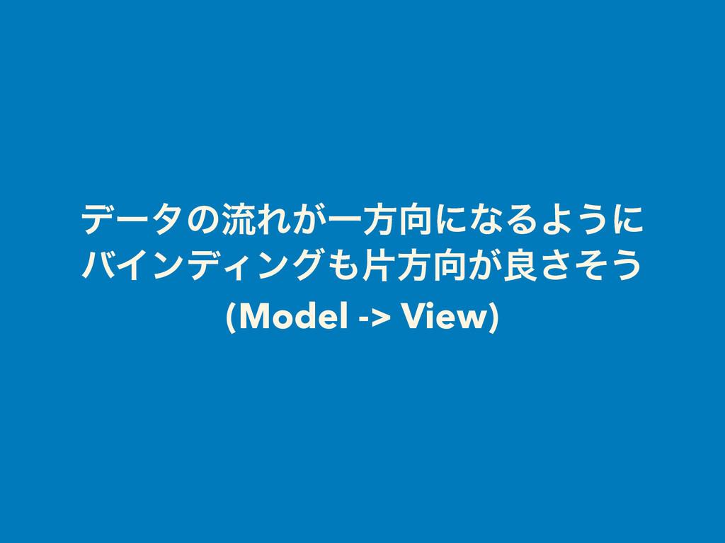 σʔλͷྲྀΕ͕ҰํʹͳΔΑ͏ʹ όΠϯσΟϯάยํ͕ྑͦ͞͏ (Model -> Vie...