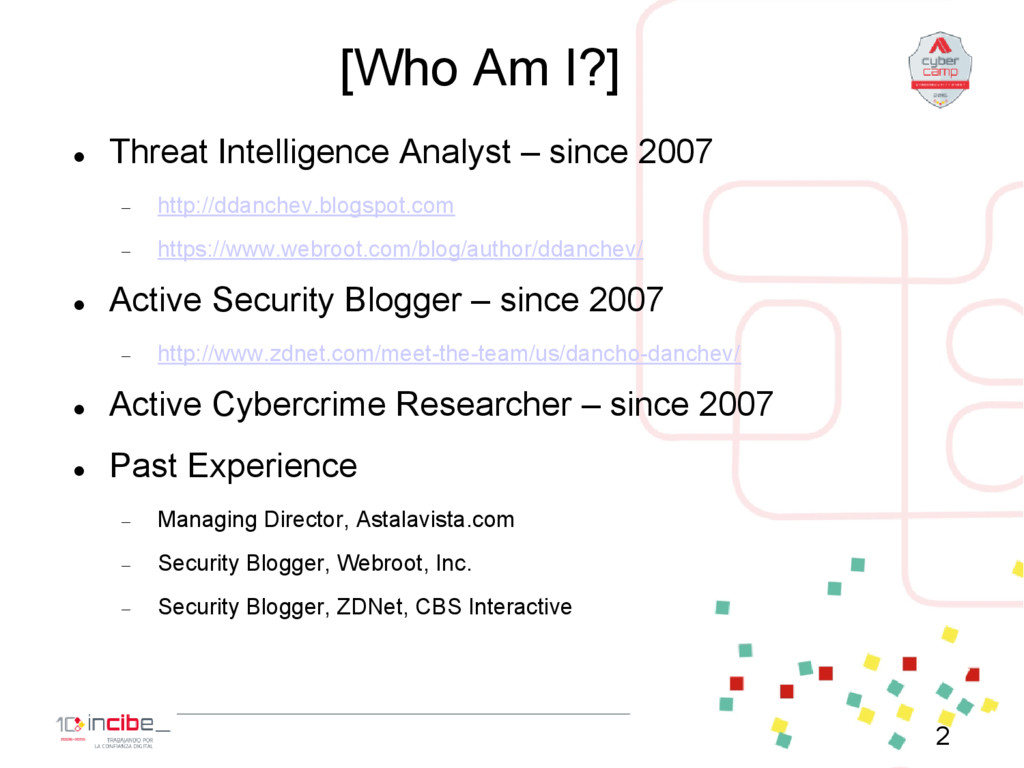 [Who Am I?]  Threat Intelligence Analyst – sin...