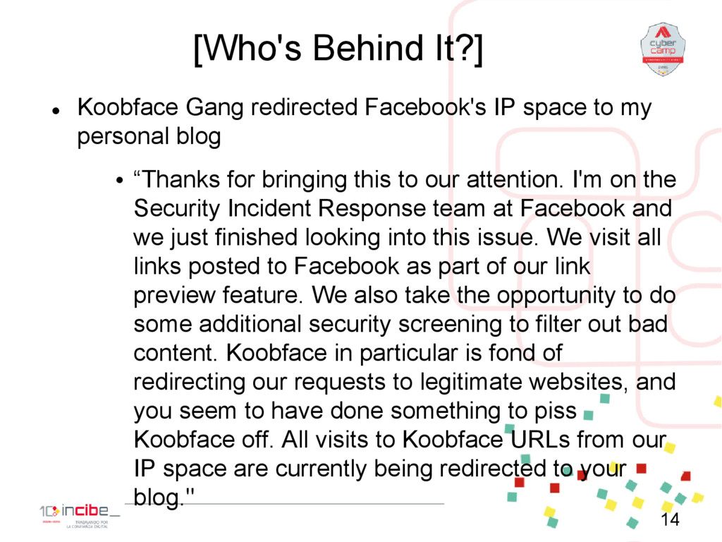 [Who's Behind It?]  Koobface Gang redirected F...