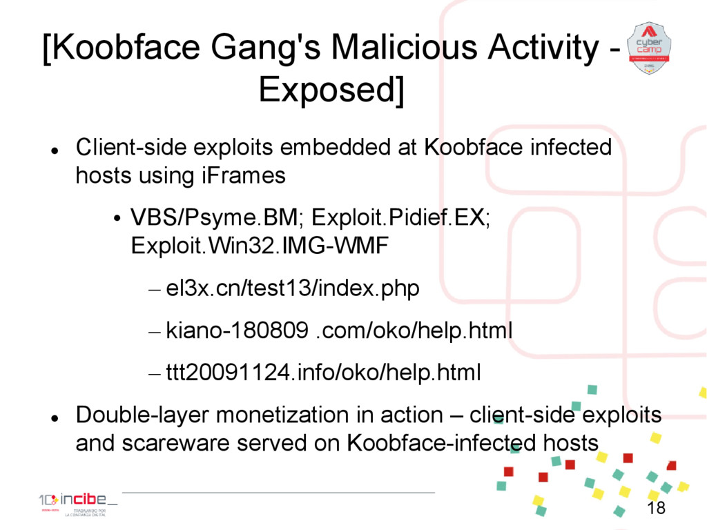 [Koobface Gang's Malicious Activity - Exposed] ...
