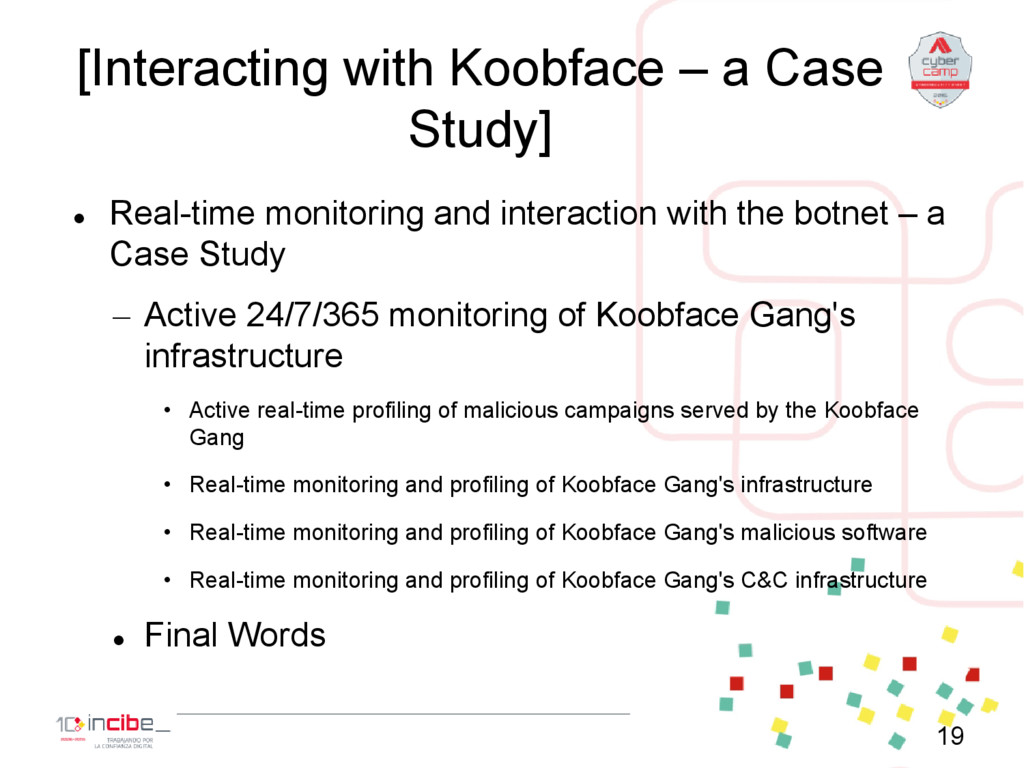 [Interacting with Koobface – a Case Study]  Re...
