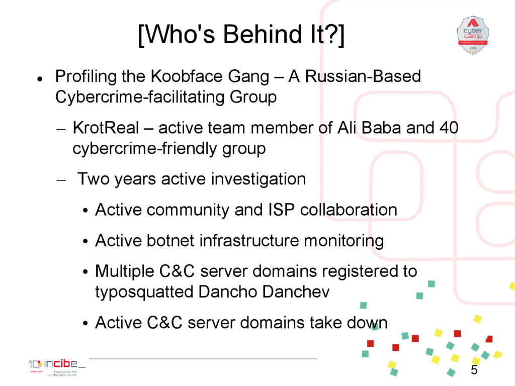 [Who's Behind It?]  Profiling the Koobface Gan...