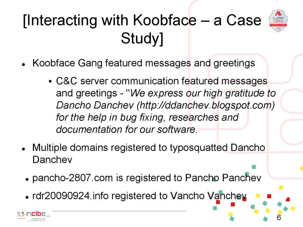 [Interacting with Koobface – a Case Study]  Ko...