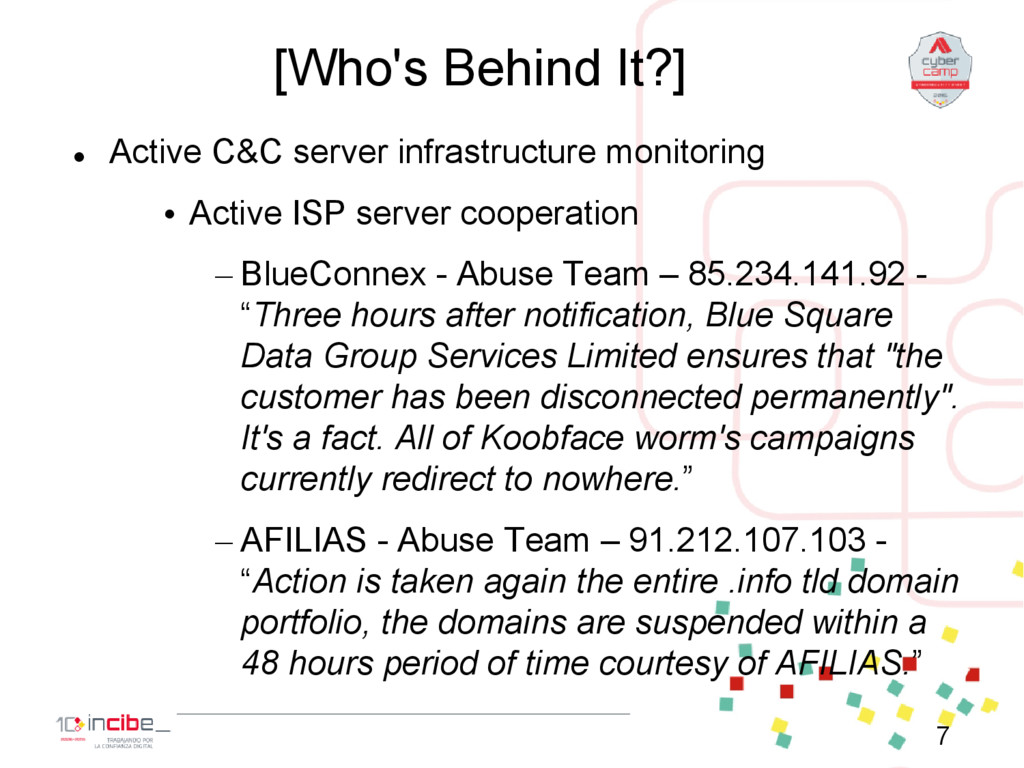 [Who's Behind It?]  Active C&C server infrastr...