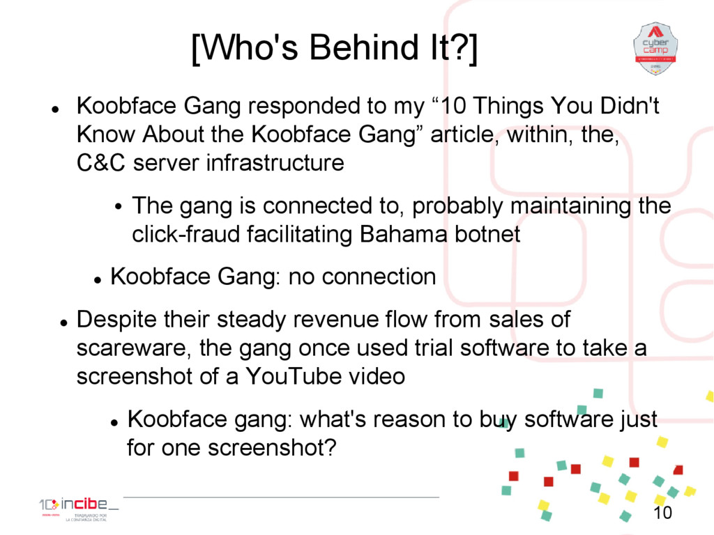 [Who's Behind It?]  Koobface Gang responded to...