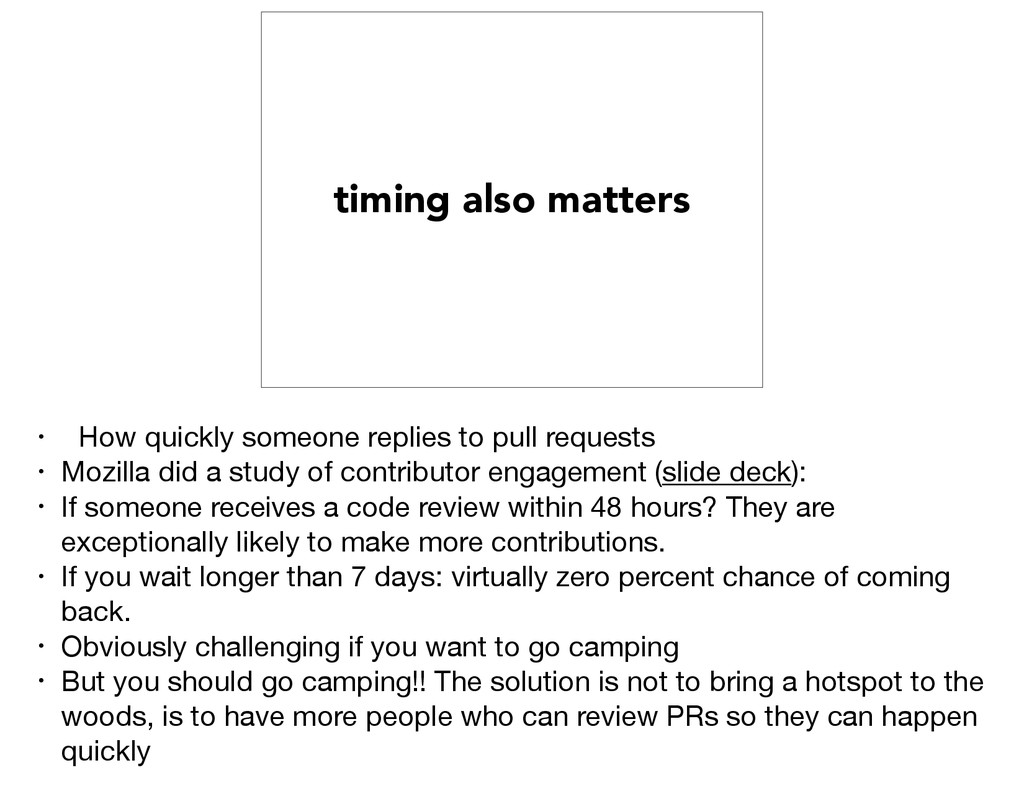 timing also matters • How quickly someone repli...