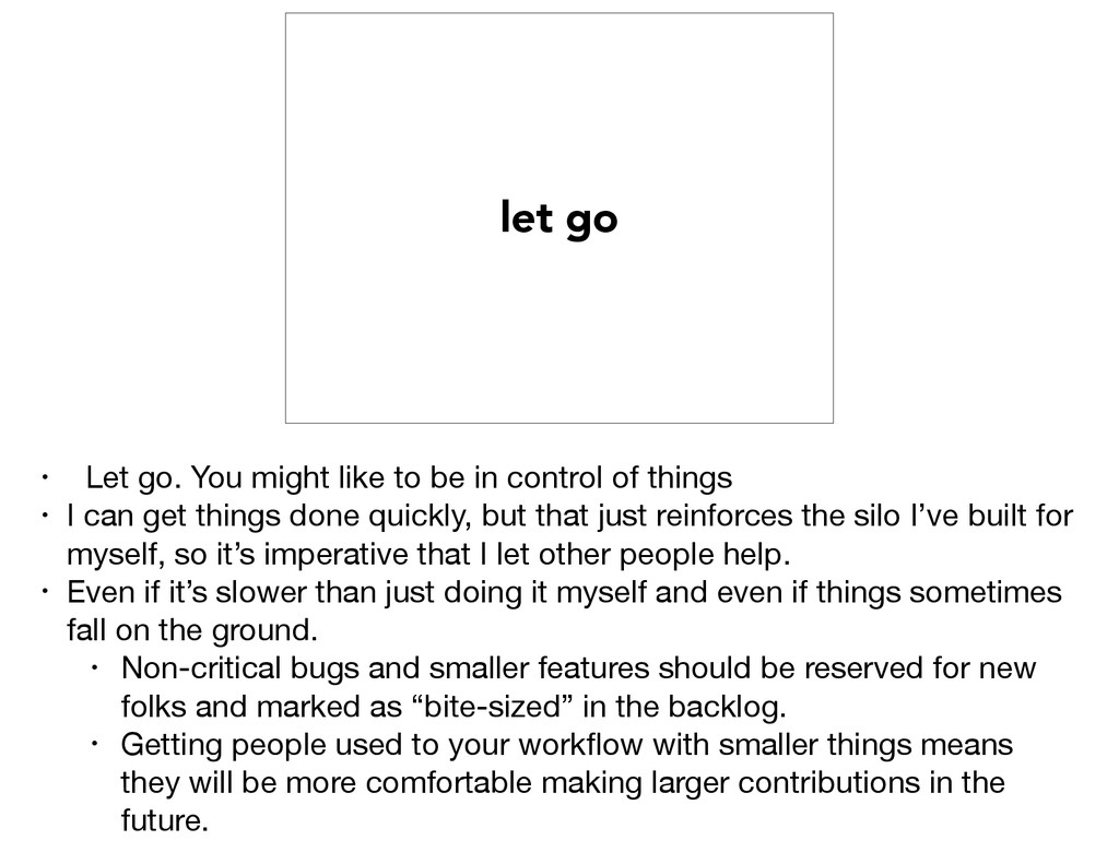 let go • Let go. You might like to be in contro...