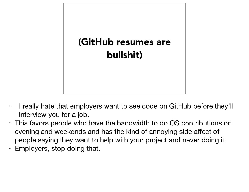 (GitHub resumes are bullshit) • I really hate t...