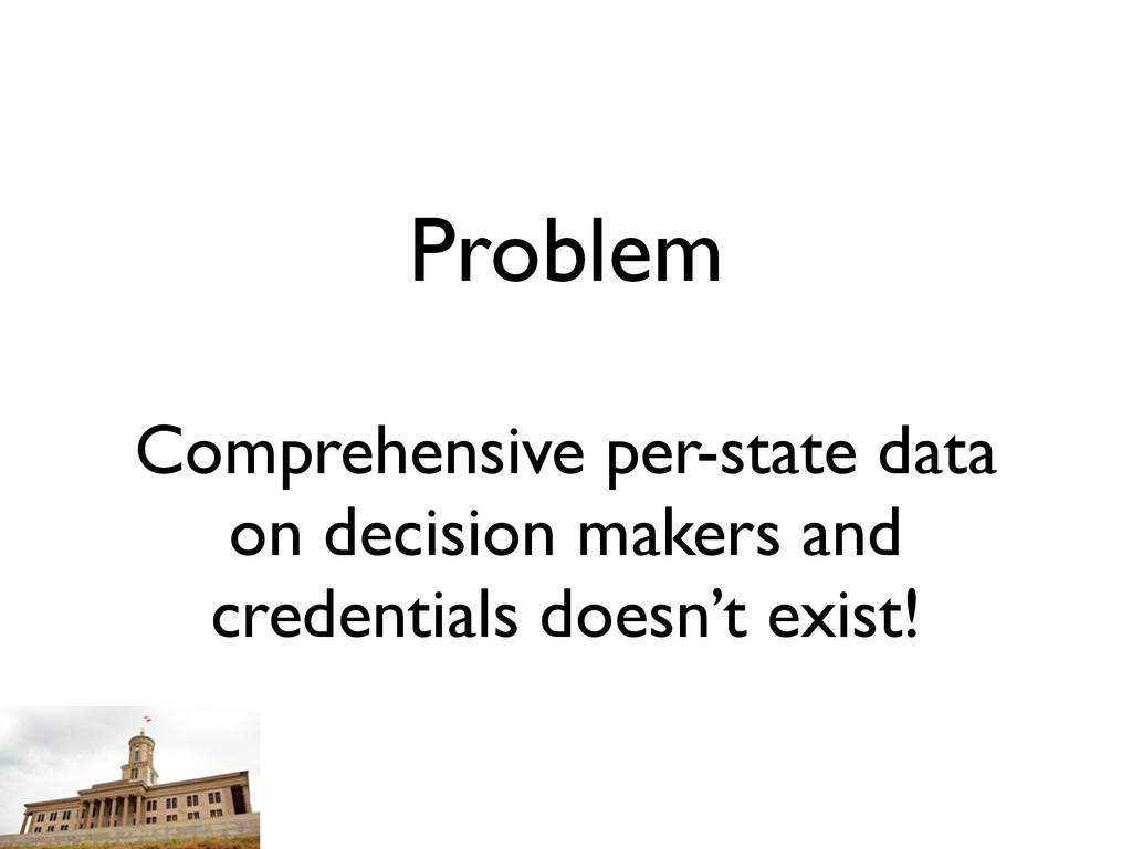 Problem Comprehensive per-state data on decisio...