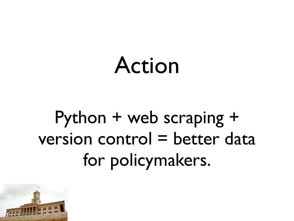 Action Python + web scraping + version control ...