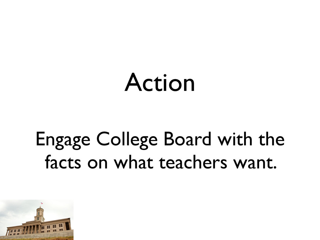Action Engage College Board with the facts on w...