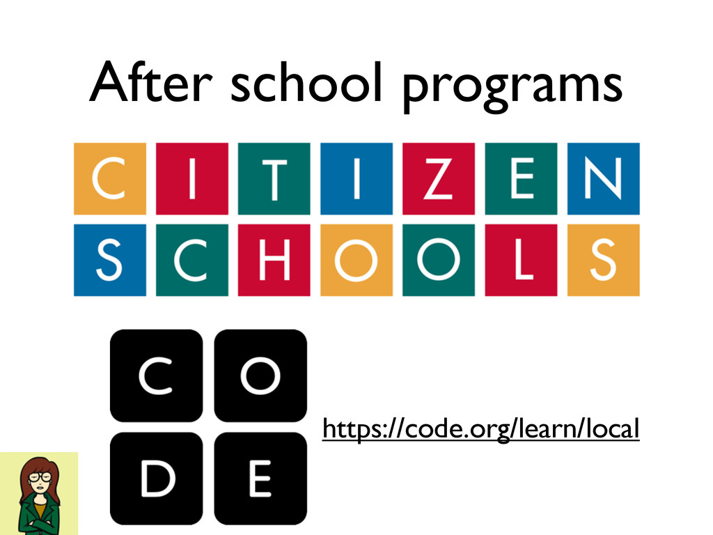 https://code.org/learn/local After school progr...
