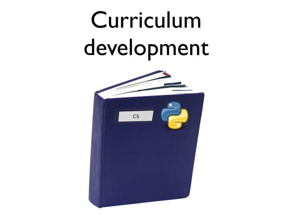 Curriculum development CS