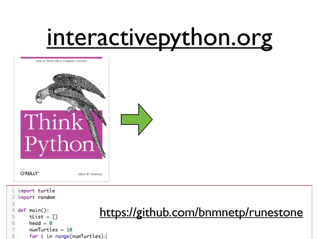 interactivepython.org https://github.com/bnmnet...