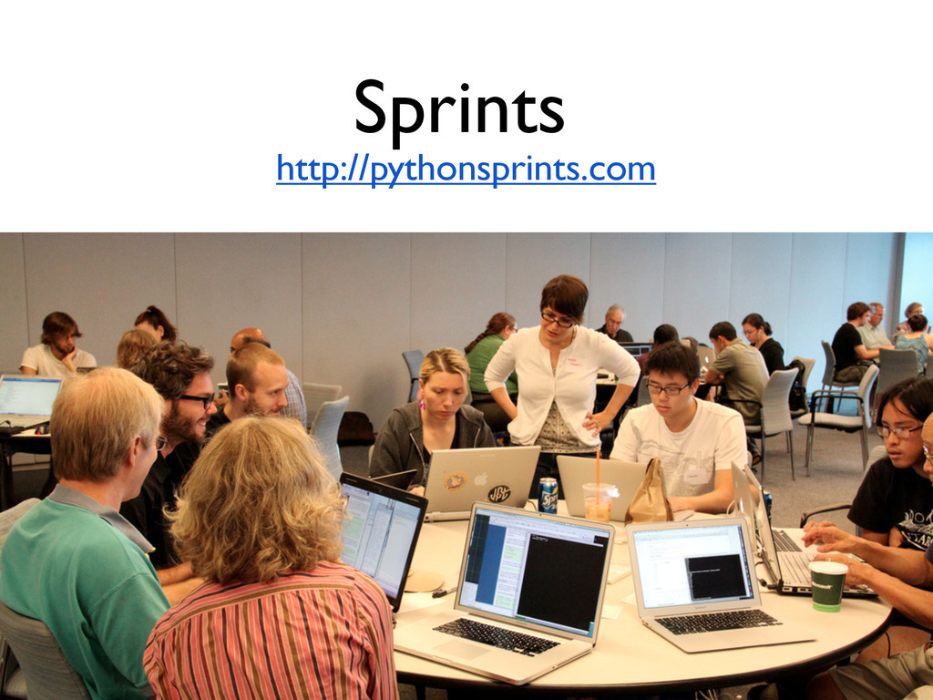 Sprints http://pythonsprints.com