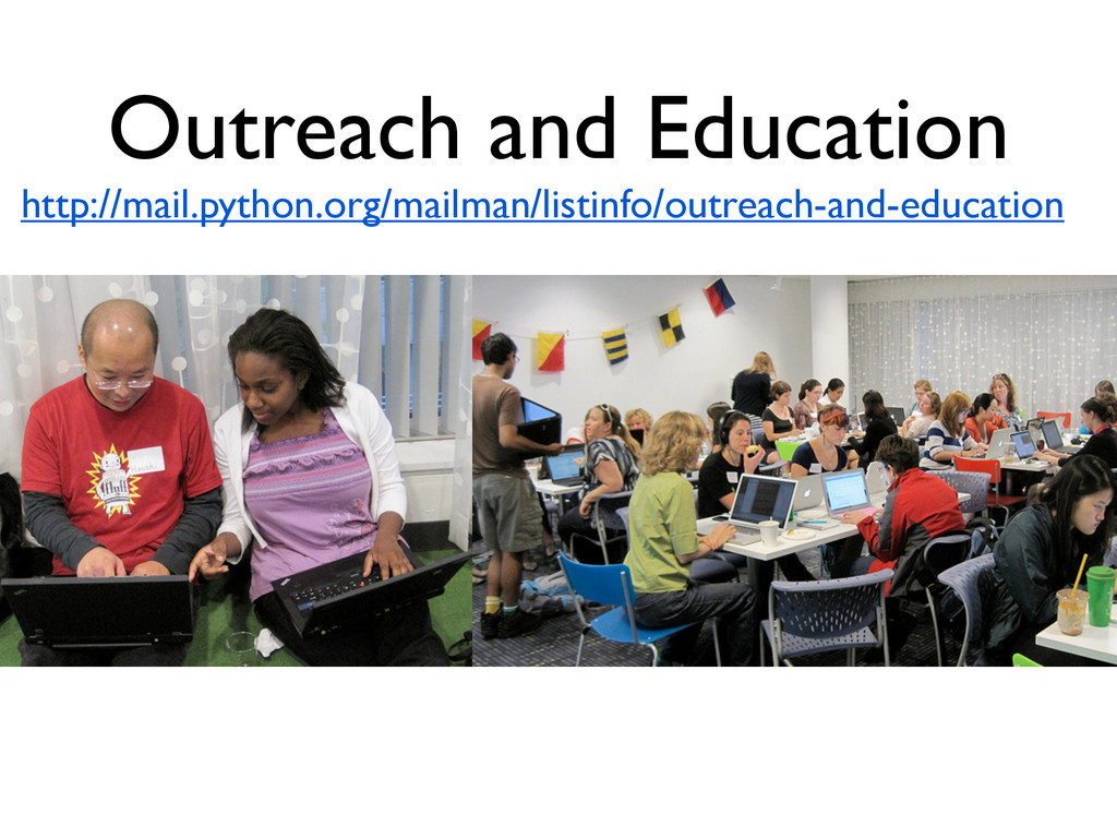 Outreach and Education http://mail.python.org/m...