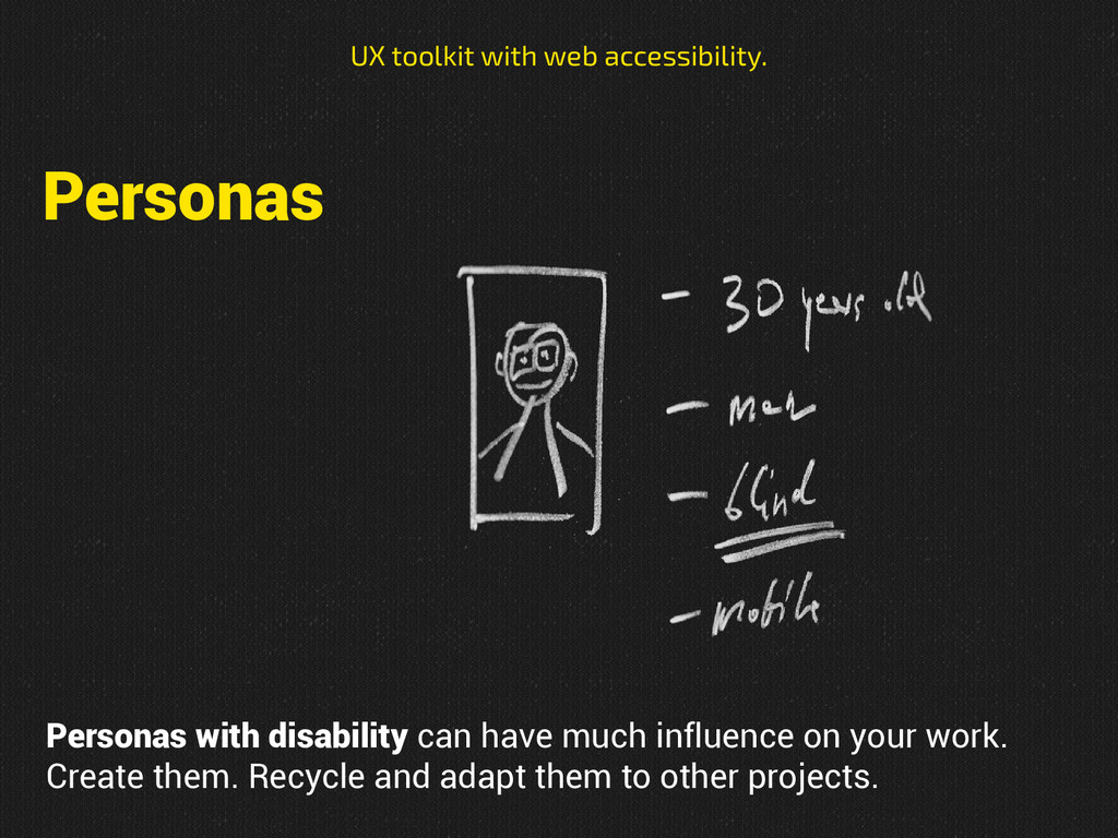 Personas UX toolkit with web accessibility. Per...
