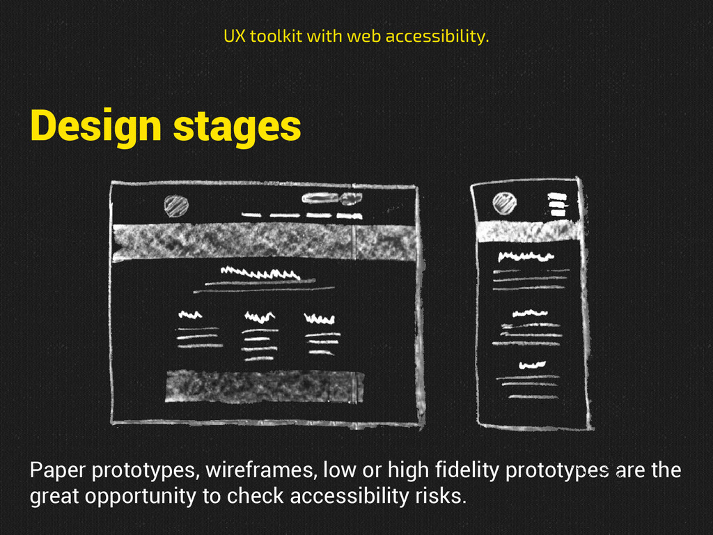 Design stages UX toolkit with web accessibility...