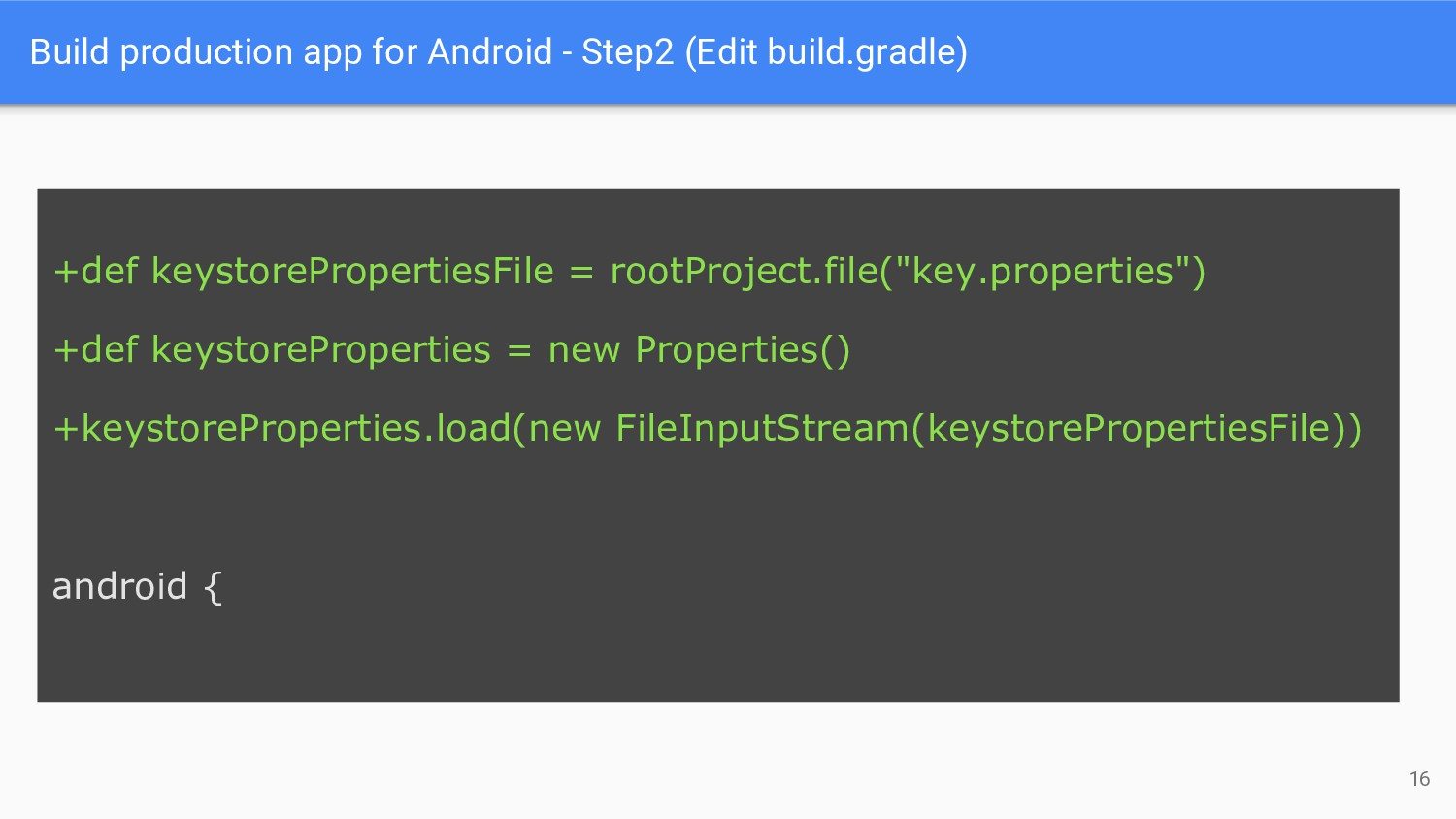Build production app for Android - Step2 (Edit ...