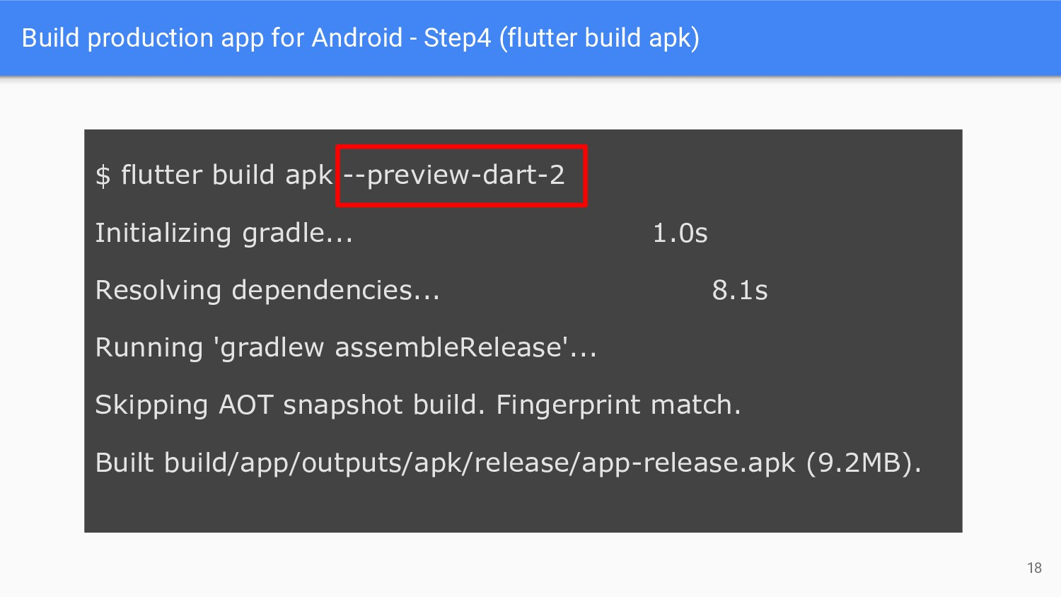 Build production app for Android - Step4 (flutt...