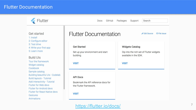 Flutter Documentation 7 https://flutter.io/docs/