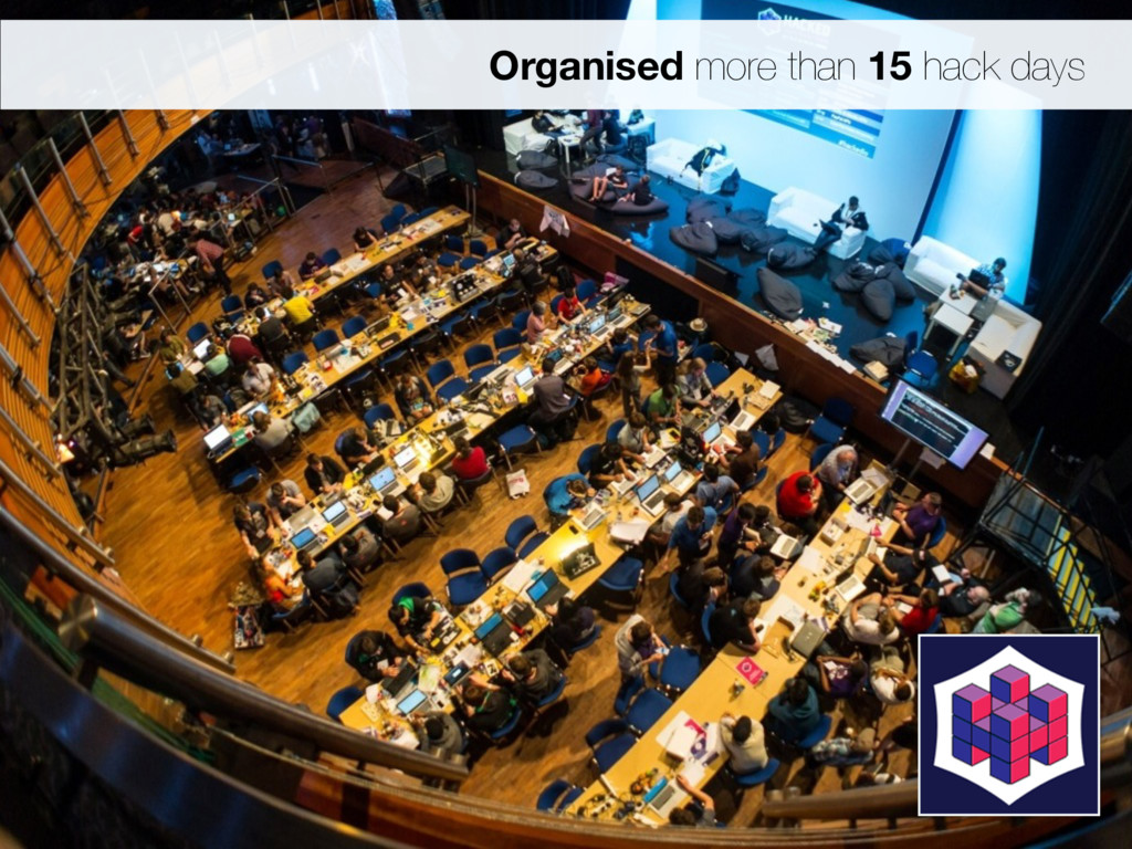 Organised more than 15 hack days