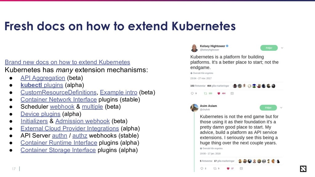 17 Fresh docs on how to extend Kubernetes Brand...