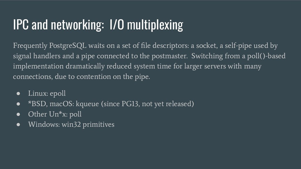 IPC and networking: I/O multiplexing Frequently...