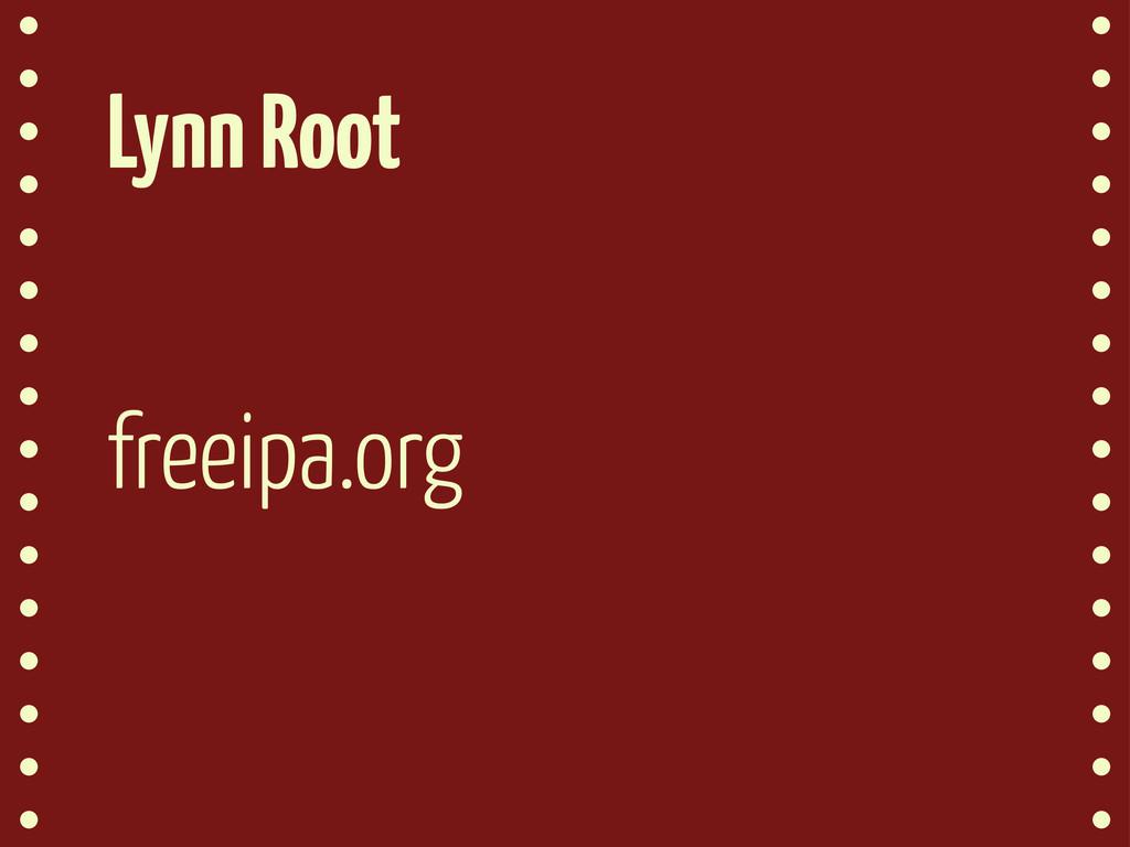 Lynn Root freeipa.org