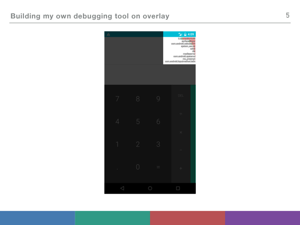 Building my own debugging tool on overlay 5