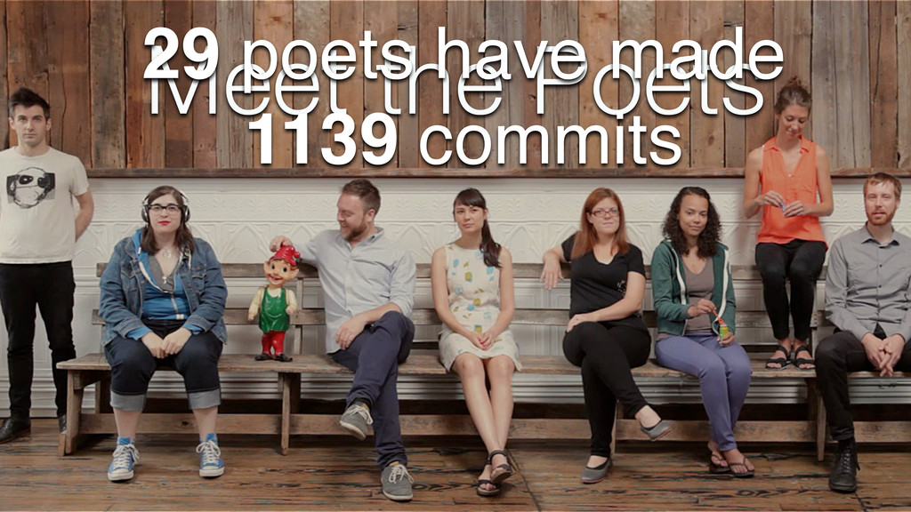 Meet the Poets 29 poets have made 1139 commits