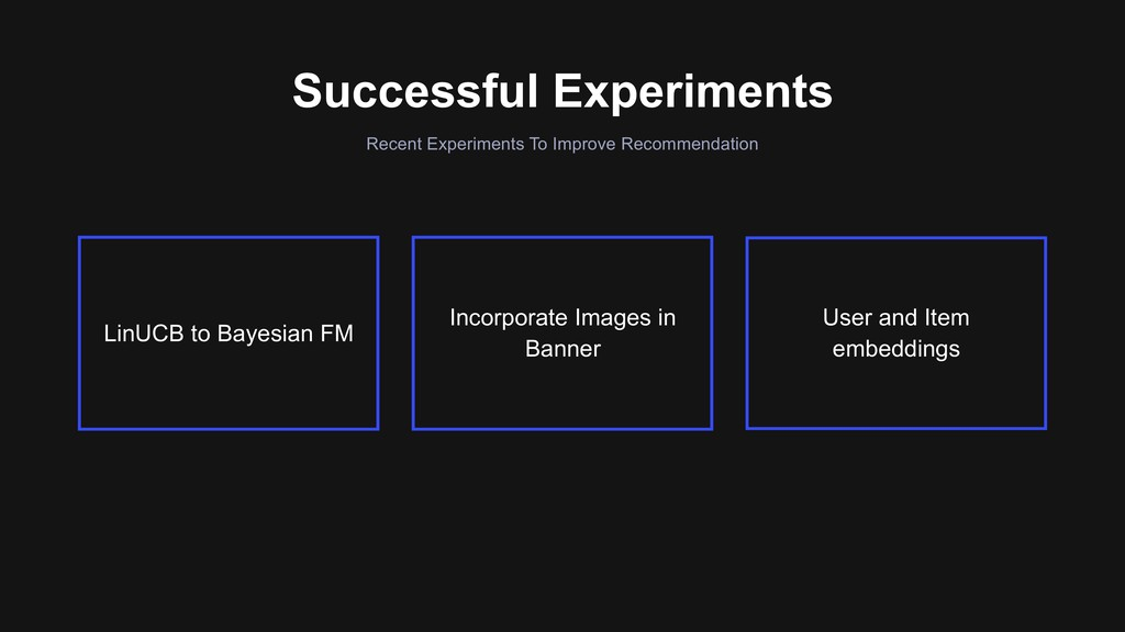 Recent Experiments To Improve Recommendation Su...