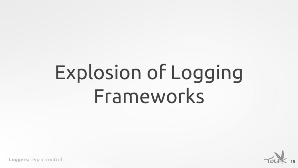 Loggers: regain control Explosion of Logging Fr...