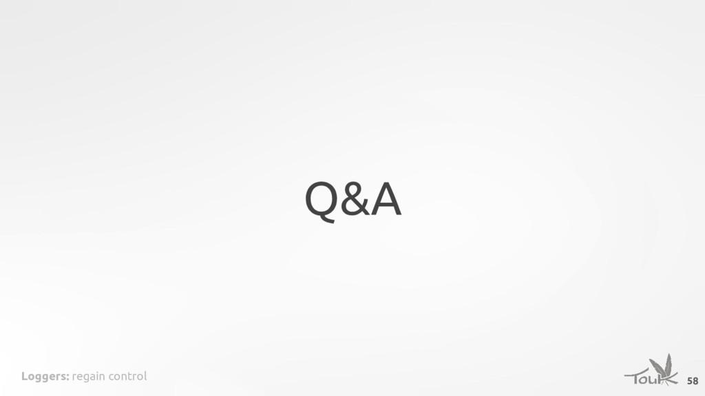 Loggers: regain control Q&A 58