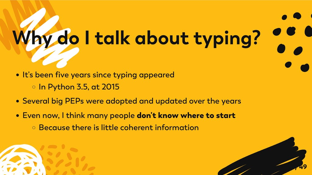 It's been five years since typing appeared In P...