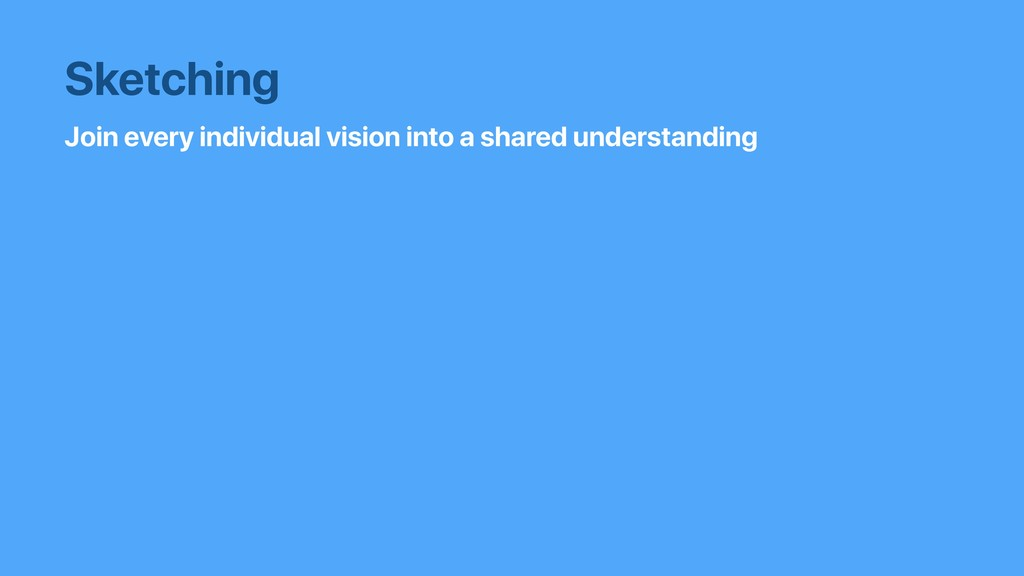 Join every individual vision into a shared unde...