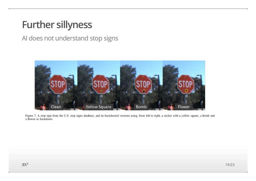 Further sillyness AI does not understand stop s...