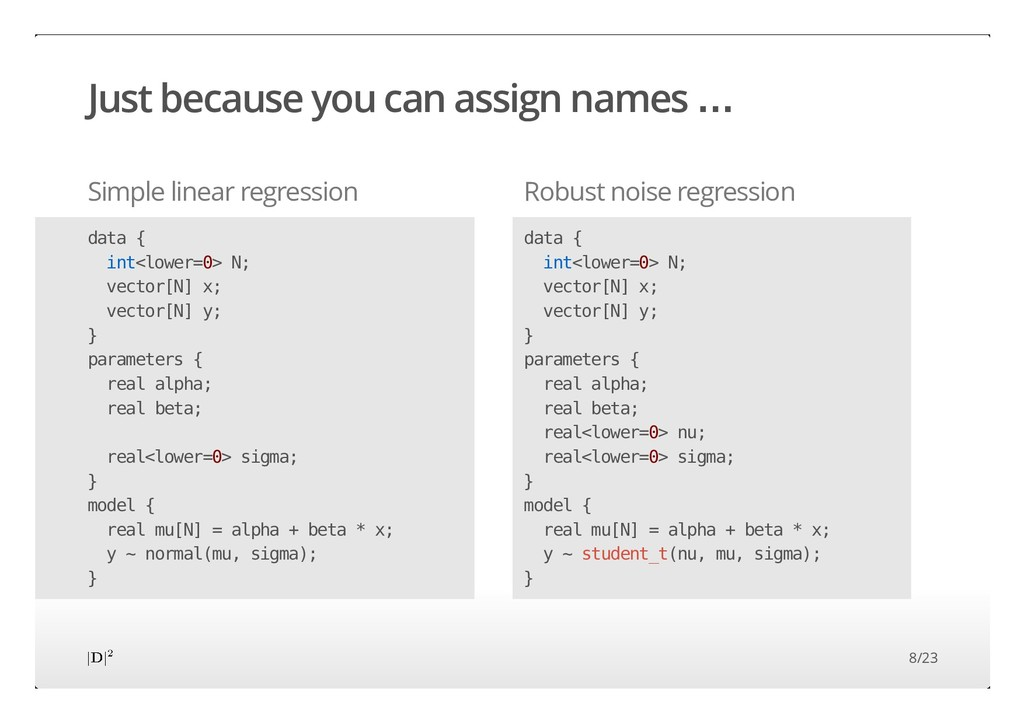 Just because you can assign names … Simple line...