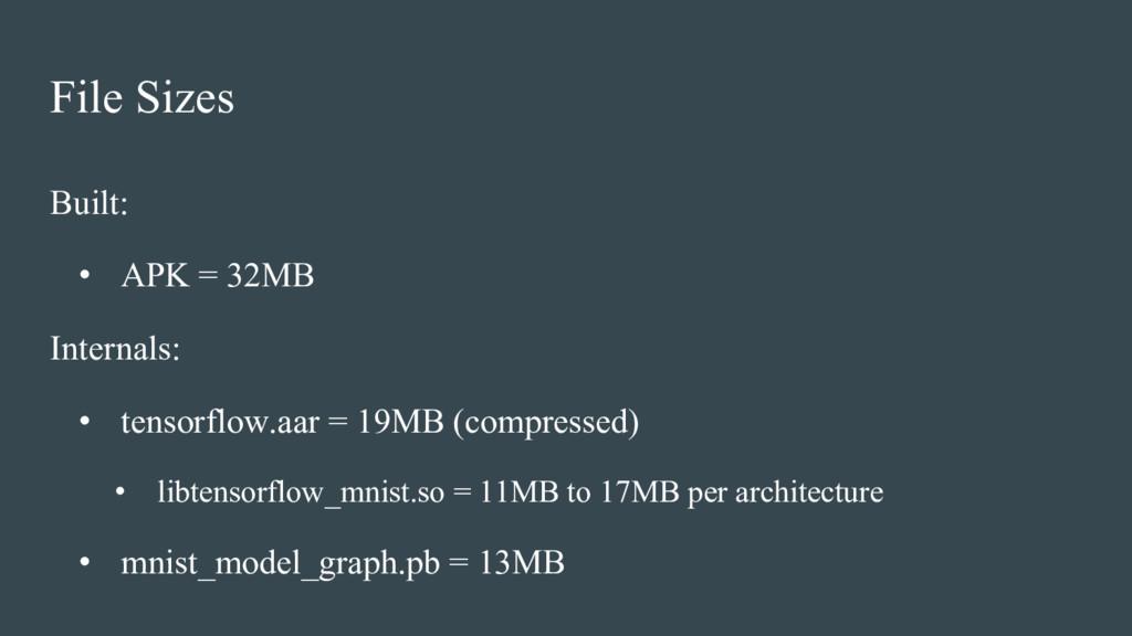 File Sizes Built: • APK = 32MB Internals: • ten...