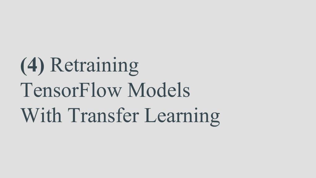 (4) Retraining TensorFlow Models With Transfer ...
