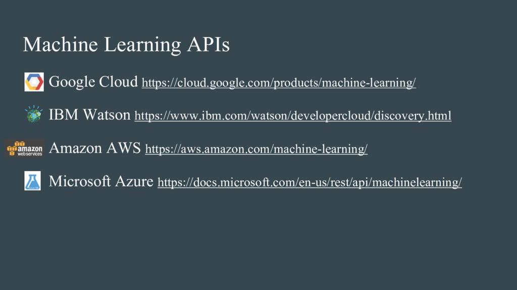 Machine Learning APIs • Google Cloud https://cl...