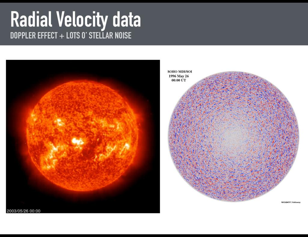 Radial Velocity data DOPPLER EFFECT + LOTS O' S...
