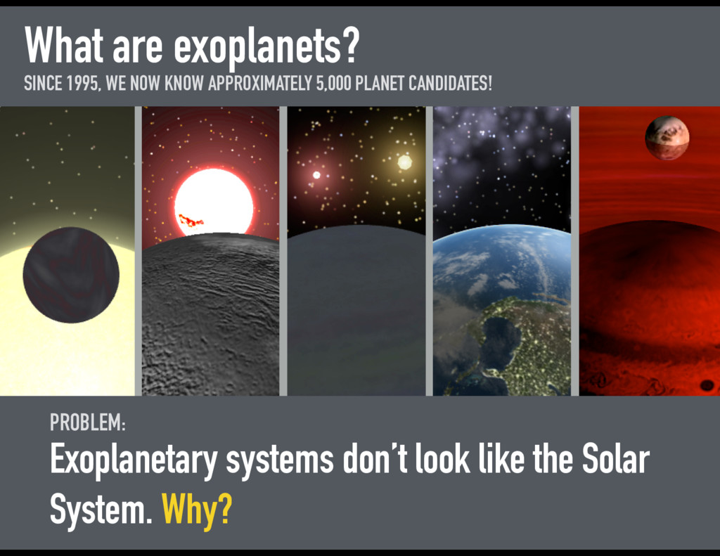 What are exoplanets? SINCE 1995, WE NOW KNOW AP...